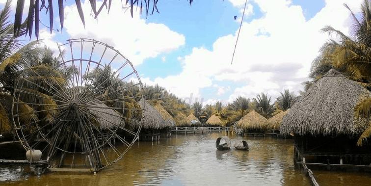 Khung cảnh thơ mộng trong vườn sinh thái Hoa Súng (Ảnh ST)
