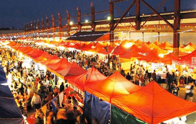 Các gian hàng trong chợ Tây Đô (Ảnh ST)
