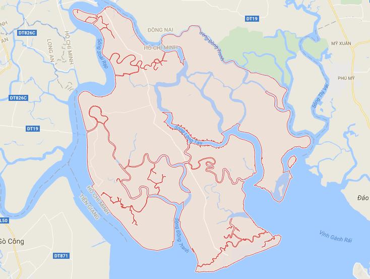 Bản đồ Cần Giờ