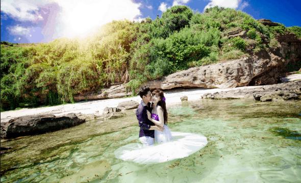 Các cặp đôi sẽ có bộ ảnh cưới đẹp tại khu du lịch Suối Mơ