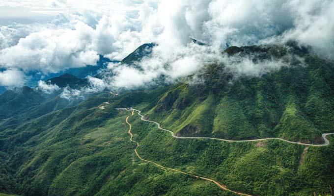 Ảnh chụp từ trên cao của núi Ngọc Linh. (Ảnh ST)