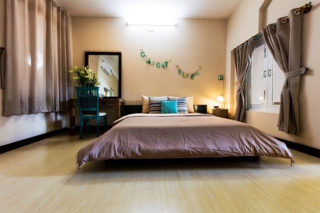 Phòng nghỉ tại Home rất rộng và thoáng (Ảnh: Sưu tầm)