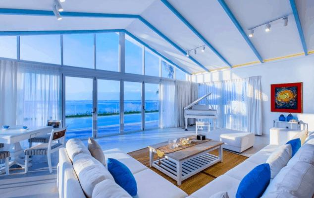 Không gian phòng nghỉ hướng ra biển tuyệt đẹp