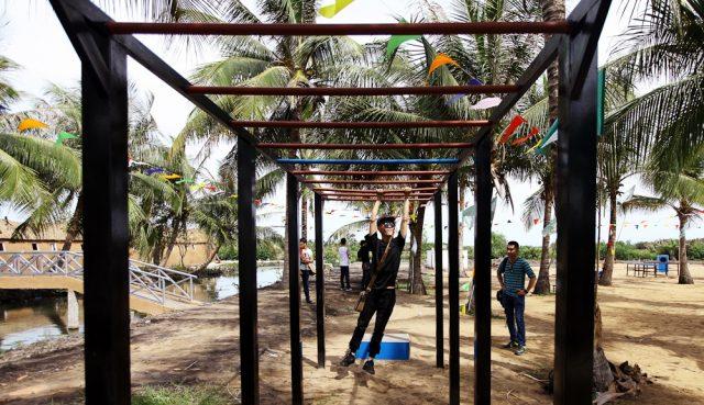 The Bamboo có một khu trò chơi riêng biệt để tổ chức teambuilding với nhiều thử thách và chướng ngại vật hấp dẫn (Ảnh: Sưu tầm)
