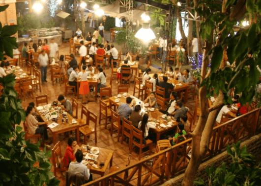 Khu vực nhà hàng cao cấp tại Lan Anh Village quận 2
