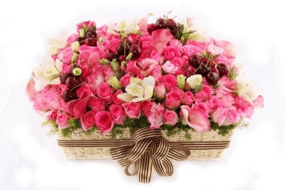 Lẵng hoa hồng đẹp