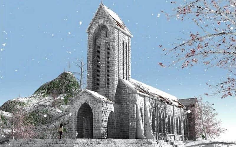 Image result for nhà thờ đá sapa