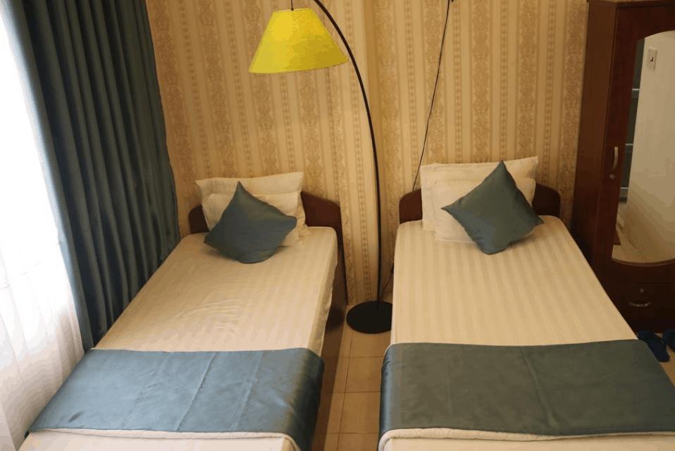 phòng 2 giường đơn có tầm nhìn tại Tân 58 Hotel