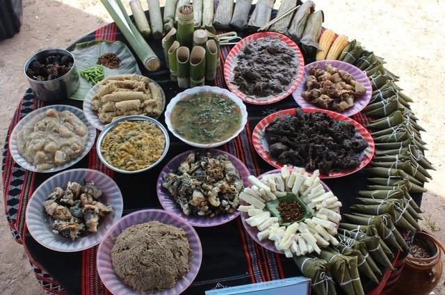 Các món ăn truyền thống của người Cơ Tu (Ảnh: Sưu tầm)