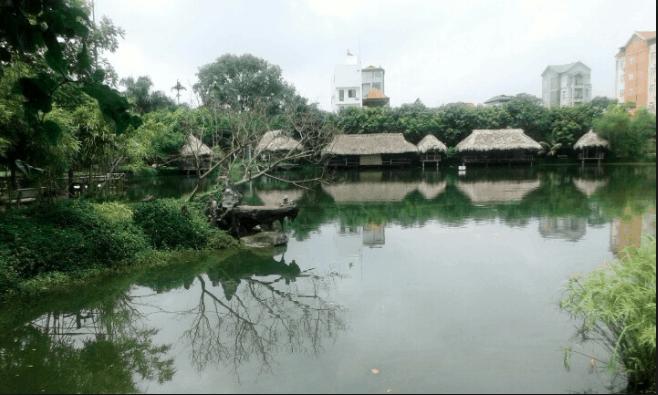 Không khí trong lành tại khu du lịch sinh thái Vườn Xoài