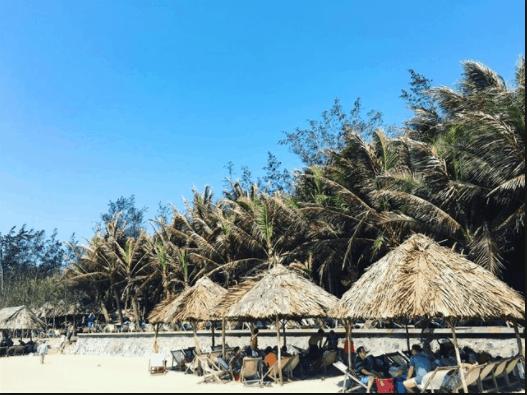 Long Cung resort có không khí trong lành, mát mẻ
