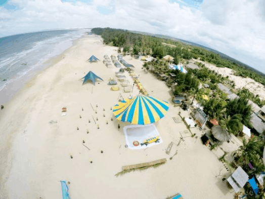Coco Beach Camp chụp từ trên cao