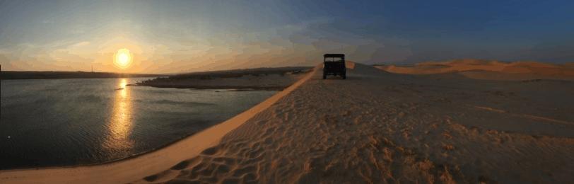 Ngắm bình minh ở đồi cát bay