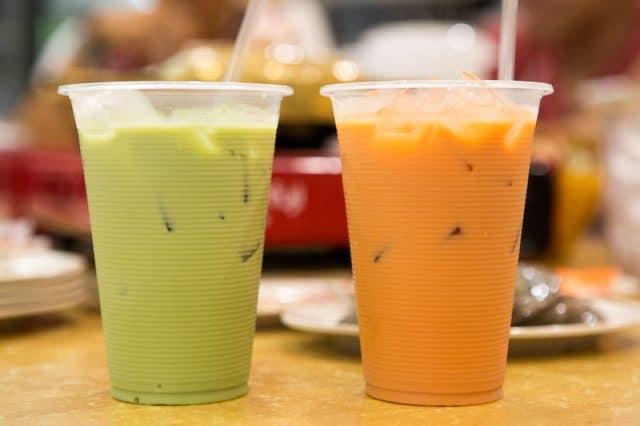 Trà sữa ở đây thường có màu vàng cam (Ảnh ST)