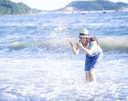Du khách có thể vui chơi thỏa thích tại biển 30/4 Cần Giờ