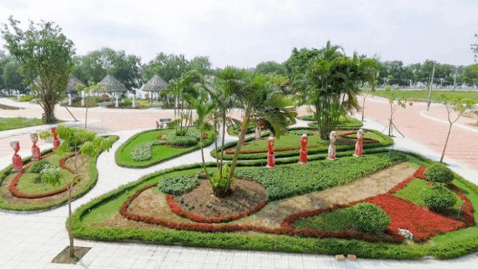 Khuôn viên khu du lịch sinh thái Cát Tường Phú Sinh