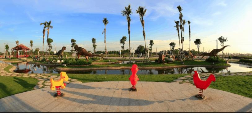 Khuôn viên vô cùng rộng ở Cát Tường Phú Sinh