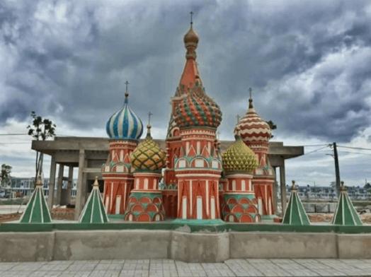 Mô hình thu nhỏ của nhà thờ thánh Basil - Nga