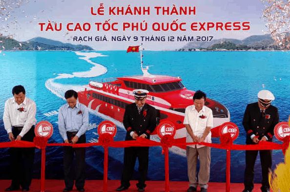 Hình ảnh lễ khánh thành tàu cao tốc Phú Quốc Express