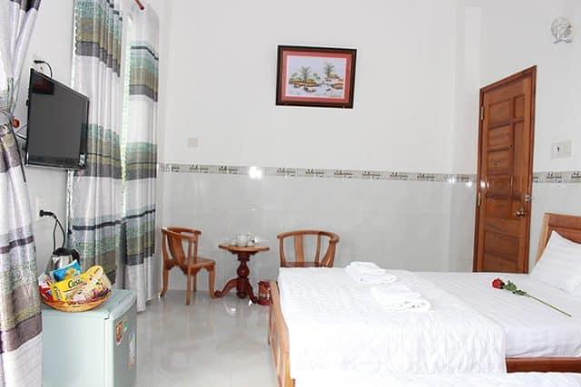Phòng nghỉ trong Hoàng Kim - khách sạn Phú Yên gần biển (Ảnh ST)