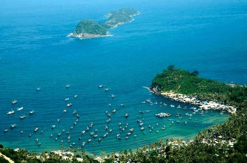 Đảo Nam Du chụp từ trên cao