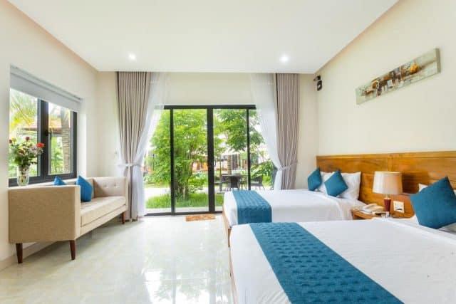 Phòng ngủ với tông màu sáng, trang nhã (Ảnh ST)