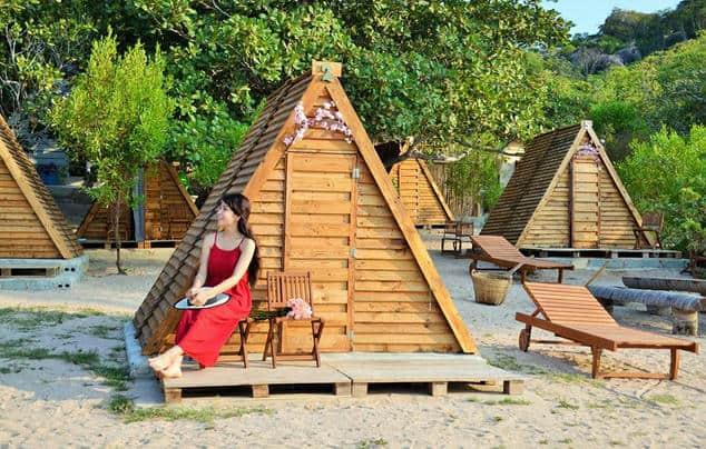 Chòi gỗ siêu đáng yêu của khu du lịch tại Sao Biển Bình Lập (ẢNH ST)