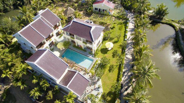 Green Boutique Villa nhìn từ trên cao (Ảnh ST)