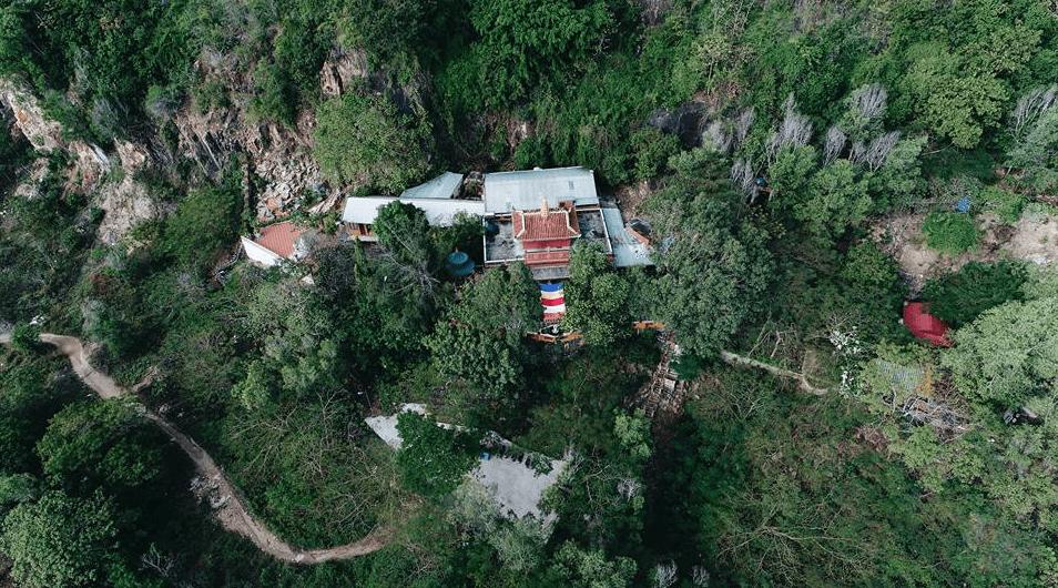 Hình ảnh chùa Quan Âm Các nhìn từ trên cao
