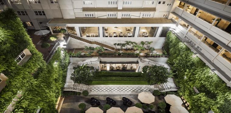Không gian xanh tại khách sạn Rex SaiGon