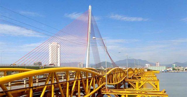 Cầu Nguyễn Văn Trỗi nổi tiếng ở Đà Nẵng (Ảnh ST)