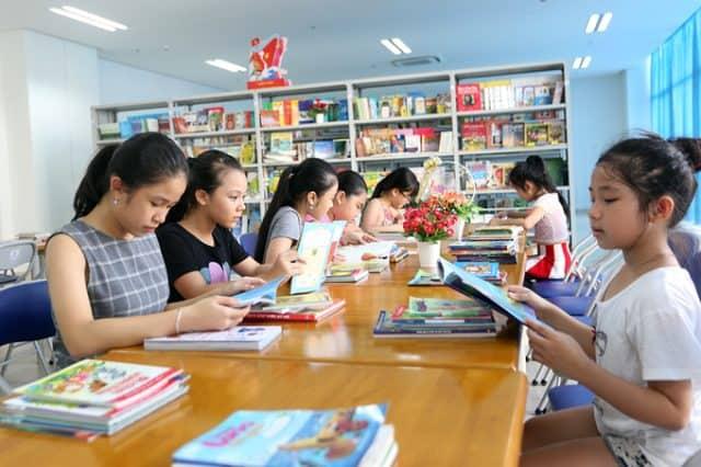 Thư viện trong Cung văn hóa thiếu nhi (Ảnh ST)