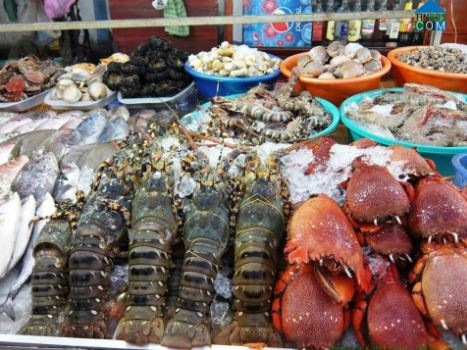 hải sản tại Rạch Vẹm