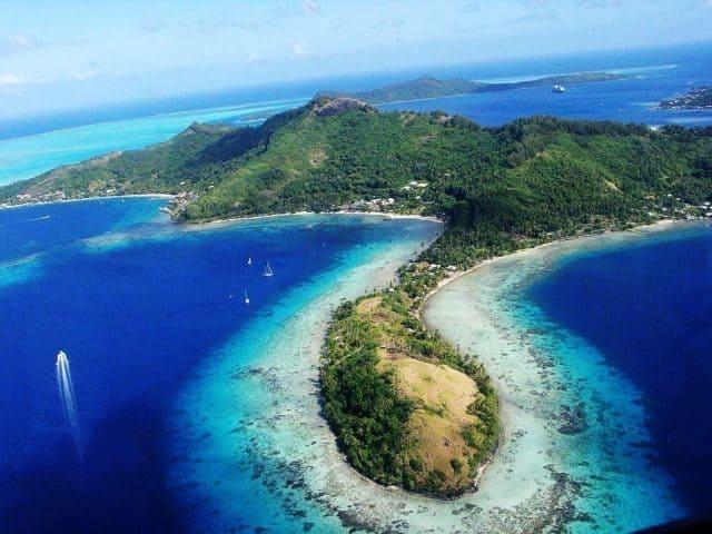 Khung cảnh trên cao quần đảo Penghu (Bành Hồ) (Ảnh ST)