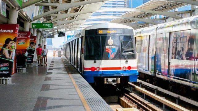 Hệ thống tàu điện của Thái Lan cũng rất phát triển (Ảnh ST)