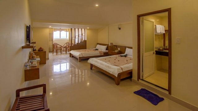 Phòng ngủ của Resort Gió Biển(Ảnh ST)