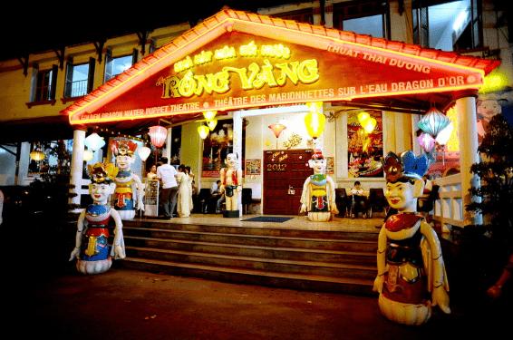 Nhà hát múa rối nước Rồng Vàng (ảnh ST)