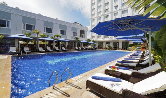 Bể bơi ngoài trời của khách sạn ocean pearl Phú Quốc (Ảnh ST)