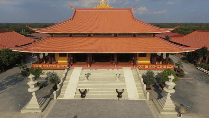 Toàn cảnh thiền viện Trúc Lâm Chánh Giác nhìn từ trên cao (Ảnh: sưu tầm)