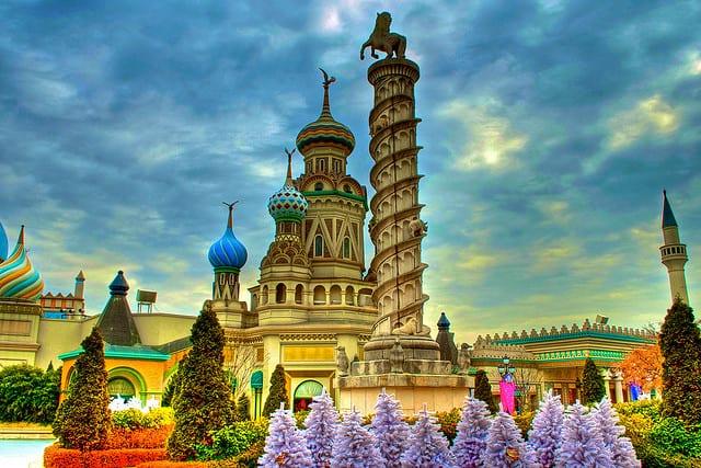 Lâu đài được thiết kế theo kiểu Châu Âu (ảnh ST)