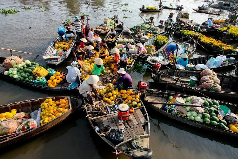 Kết quả hình ảnh cho Chợ nổi Cái Bè, Tiền Giang