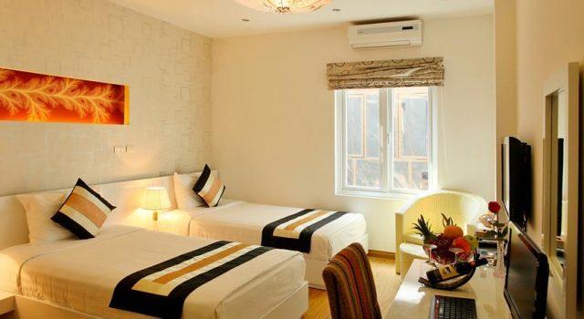 Phòng ngủ của khách sạn thiết kế sang trọng( ảnh ST)