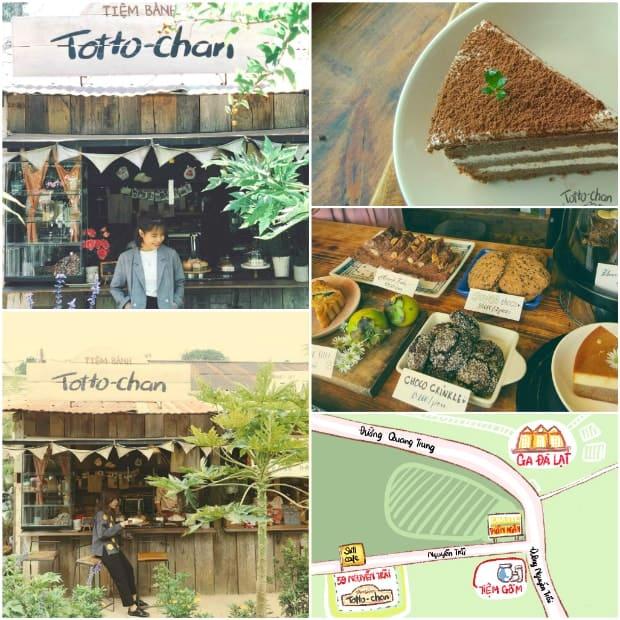 Tiệm bánh Totto-chan được trang trí khá đặc biệt theo phong cách retro.